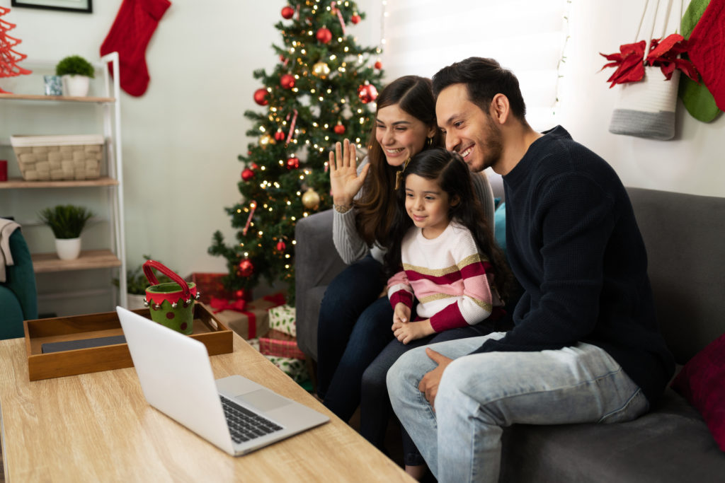 Video call with family on Christmas