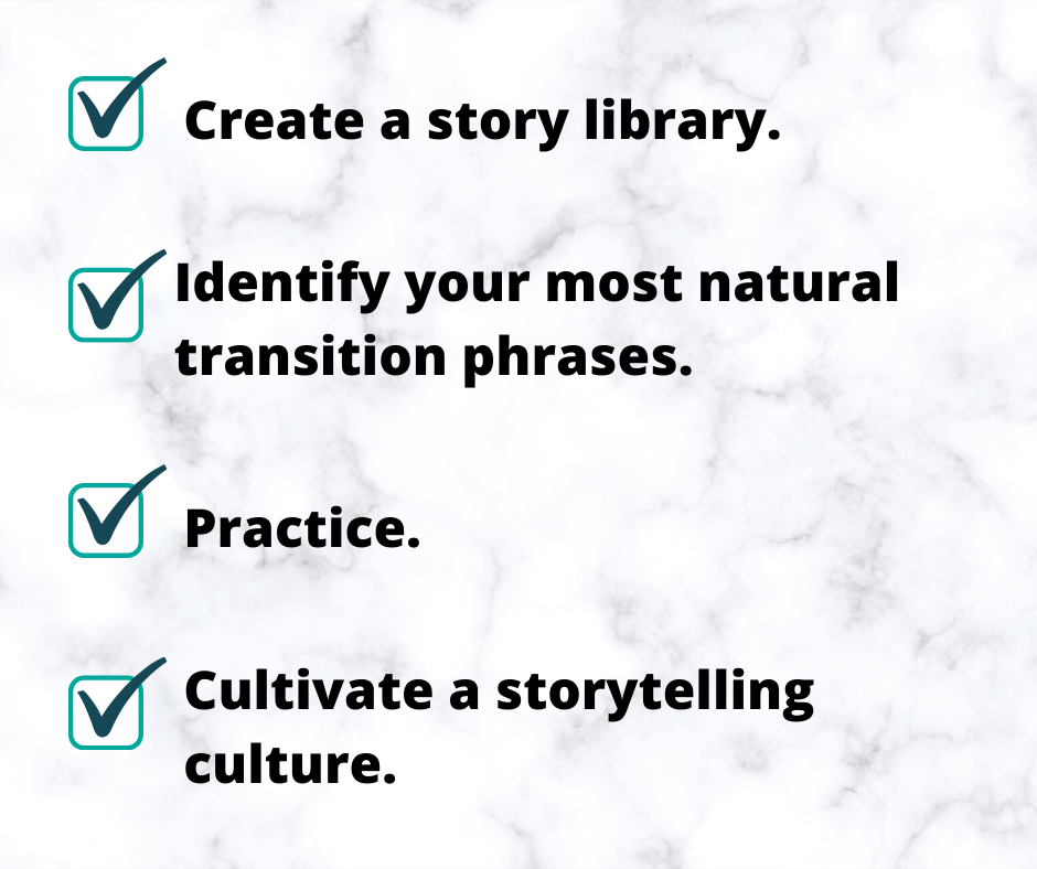 A checklist for sharing stories